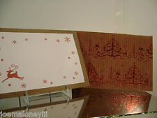 CHRISTMAS CARDS LORD & TAYLOR RED CHRISTMAS TREE & DEER HOLIDAY CARDS 16