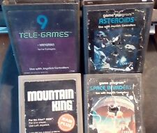 Atari Space Invaders,Asteroids,Mountain King and 9 Tele Lot Of 4 Games