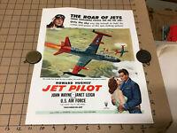 RARE Original 1950s mini POSTER Howard Hughes JET PILOT john wayne janet leigh#6