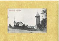 MA Scituate 1908-29 antique postcard CHURCH & TOWER MASS