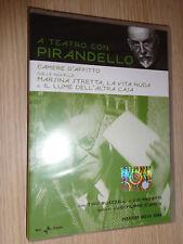 DVD A TEATRO CON LUIGI PIRANDELLO CAMERE D'AFFITTO BUAZZELLI PROIETTI D'AMICO