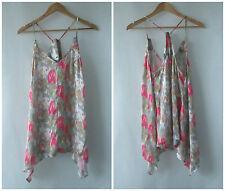 Lala Girl sz 8 Soft Silky Floral Top