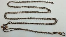 Seed Pearls Slide Chain (W78) Antique Victorian Gold Filled Opal &