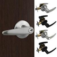 Zinc Alloy Entry Lever Door Lock Handle Set Entry/Passage Privacy Knob Lockset