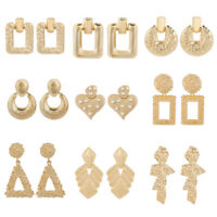 Hot Sale Women Gold Silver Earring Geometric Statement Drop Earring Jewelry Gift