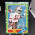 Jerry Rice 1986 Topps Football Rookie RC Card 161 49ERS HOF