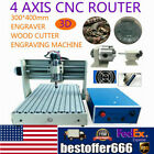 4 Axis 3040T CNC Router 3D Engraver Engraving Drilling Milling Machine Carve+RC