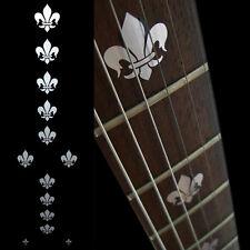 Fleur de Lys (Metallic Type) Fret Markers Sticker Decals For Guitar & Bass