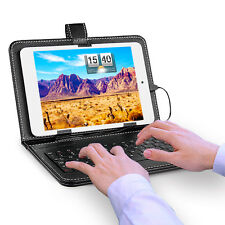 """7.9"""" Inch Tablet PC Micro USB Keyboard Mini Keypad PU Leather Stand Case Cover"""