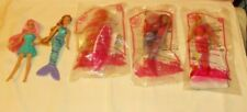 5 Mc Donald Mermaid Barbies #3 #1 & Surfer All Sealed Plus 2 Played With