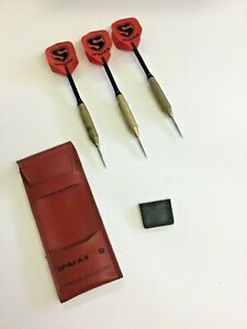 Vintage Darts in a Leather Case