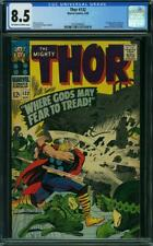 Thor 132 CGC 8.5 -- 1966 -- 1st app Ego in Cameo. Jack Kirby.  #0325040020