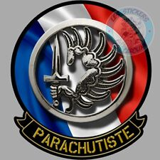 STICKER ARMEE FRANCAISE PARACHUTISTE PARA INSIGNE REGIMENT MILITAIRE LOGO PF060