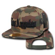 Los Angeles Vintage LA Camo Cali Camouflage Flat Snapback Snap Back Cap Hat Hats