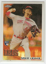 2010 TOPPS CHROME REFRACTOR ROOKIE #176 MIKE LEAKE CINCINNATI REDS - FREE SHIP