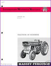▬►Brochure Tracteur MASSEY FERGUSON MF 140 Vigneron Prospect Tractor