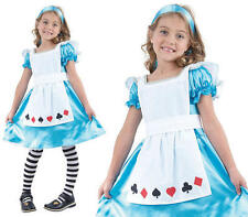 Childrens Kids Alice In Wonderland Fancy Dress Costume Childs Outfit Book Week S