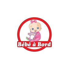 Decal Sticker vehicle car Baby à bord baby 16x16cm ref 3576