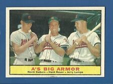 1961 Topps # 119 A's Big Armor - Hank Bauer, etc. - EX/MT - additional ship free