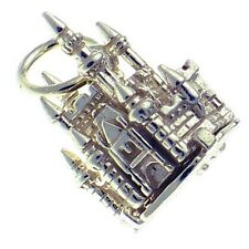 Welded Bliss Sterling 925 Silver Charm Fairy Castle Opens to Mouse, Ring or Clip