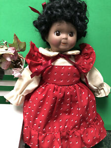 Adorable RARE African American Googly Eyes Porcelain Black Doll Excellent!