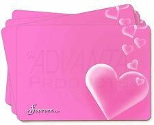 Pink Hearts 'Forever' Sentiment Picture Placemats in Gift Box, LOVE-2P