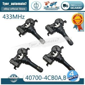 4PCS 40700-4CB0A TPMS Sensor Tire Pressure Sensor 433MHz For Nissan Rogue Altima