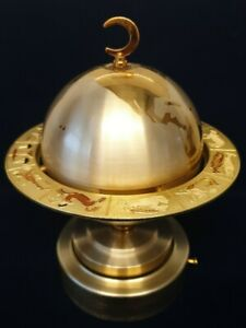 Vintage Musical Globe Cigarette Box With Zodiac Ring By Windmill Japan
