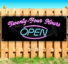 Twenty Four Hours Open Advertising Vinyl Banner Flag Sign Usa 24 Hours