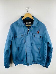 Tonino Lamborghini Safety Gear Men's Vintage Full Zip Logo Jacket Size M Blue