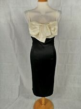 Ladies Dress Size 14 AUTOGRAPH Black Ivory Cocktail Party Evening Now Detail