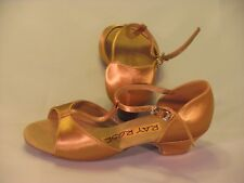 Ray Rose Girl's dance shoes UK size 1.5 Children heel Tan color New with box