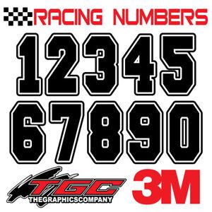 Racing Numbers Vinyl Decals Stickers boat car BMX bike off road sprint quad FRST