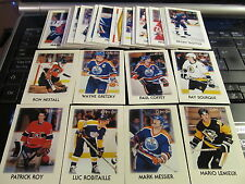 A SET OF 1987-88 OPC MINI CARDS #1-42. GRETZKY, LEMIEUX, ROY , KURRI, ROBITAILLE