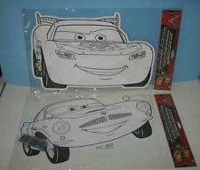 "Jumbo 17"" Disney Cars McQueen Color In Characters for Wall or Fun"
