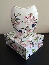 Ceramic Vase White Background Blue wren Boxed Australian Bird Series