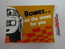 Bowes On The Move For You Nascar Decal Indianapolis 500 USAC Bowes Seal Fast
