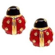 Joan Rivers Lucky Ladybug Pierced Earrings