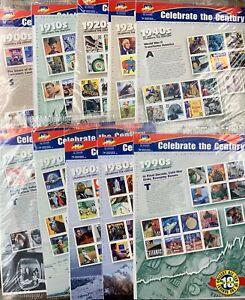 "US Postage ""Celebrate The Century"" 10 Sheet Set (#3182-3191) - $48.90 FV"