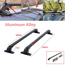 2PCS Car Luggage Rack SUV Crossbar Roof Rail Baggage Carrier Aluminum Anti-theft