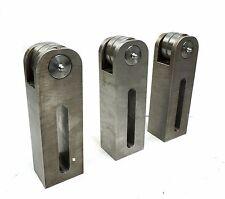 "CNC Machine Pulley Adjustment Rotating Fixture 8"" x 2"" x 2.5"" w/ Bearing"