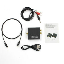 3.5mm Digital Coaxial`Toslink Optical to Analog L/R RCA Audio Converter AdapterB