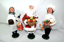 3 Byers Choice Carolers Wegmans Super Pasta Chef Givry Wine Santa
