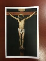 Jesus Relic Holy Card - True Cross - Prayer Before The Crucifix