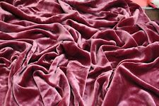 "SILK RAYON VELVET SOLID FABRIC 45""W COSTUMES, APPAREL,UPHOLSTERY 40COLOR BY YARD"