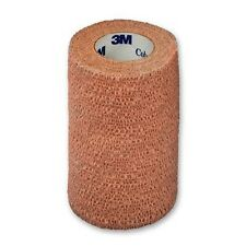 "3M Coban Self Adherent Wrap Bandage Sport Tape 4"" Roll, Tan, Each. #1584"