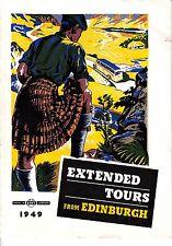 Extended Tours from Edinburgh Scotland SMT Comfort 1949 Booklet