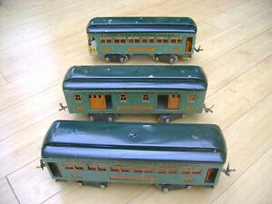 1931-1932 IVES 3 STD GAUGE CARS 332 RAILWAY MAIL 339 PULLMAN 341 OBSERVATION