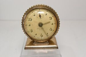 Vintage New Haven Miniature Art Deco Alarm Clock For Parts Repair