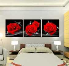 Unframed Canvas Prints Wall Art Flower Floral Red Roses Pictures Home Decoration